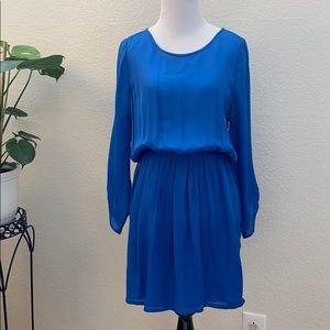 Joie Blue Dress Silk Cinched Waist